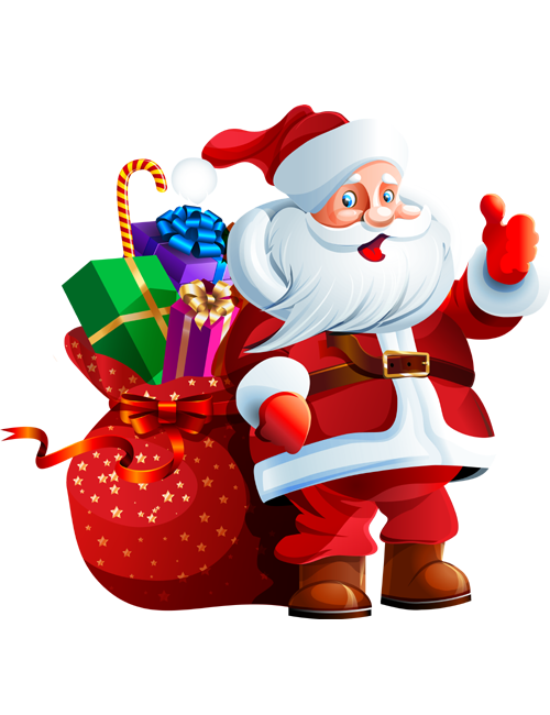 Images for santa claus with gifts PNG