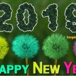 happy new year postcard 2019