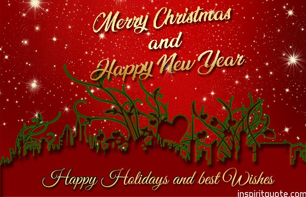 merry christmas and a happy new year holiday greetings