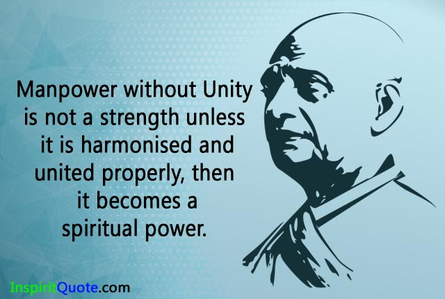 Inspirational Sardar Vallabhbhai Patel Quotes, Sayings with images & Photos