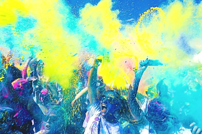 Holi Colors Background