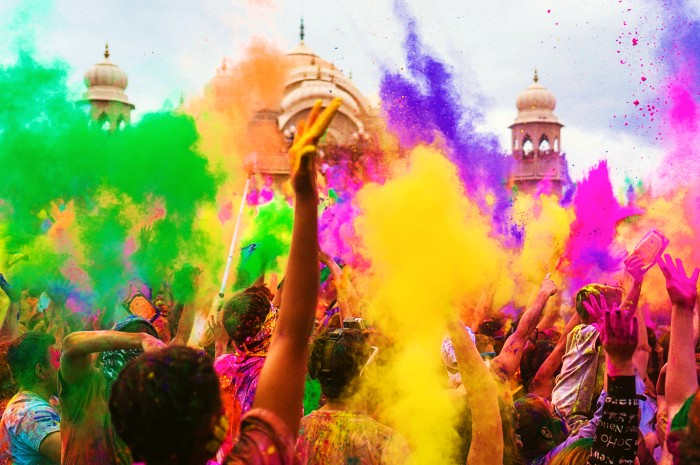 Happy Holi Background HD Image, Picture and Wallpaper