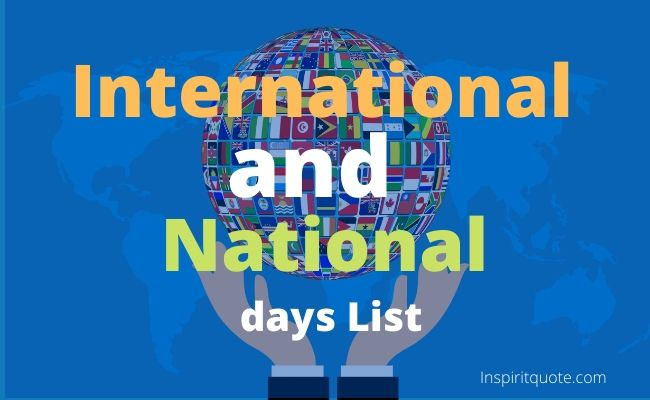Important National and International days List 2020
