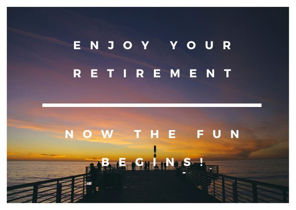Retirement Sayings for Card