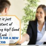 best wishes on your new job