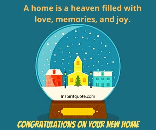 Congratulations on Your New Home Quotes