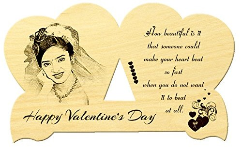 Wooden Portrait Valentines Gifts for Him